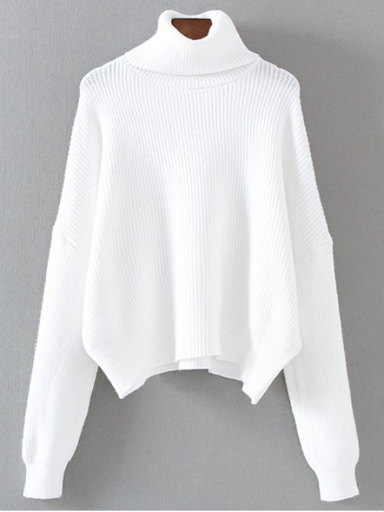 Turtleneck Relaxed Jumper - WHITE ONE SIZE Mobile