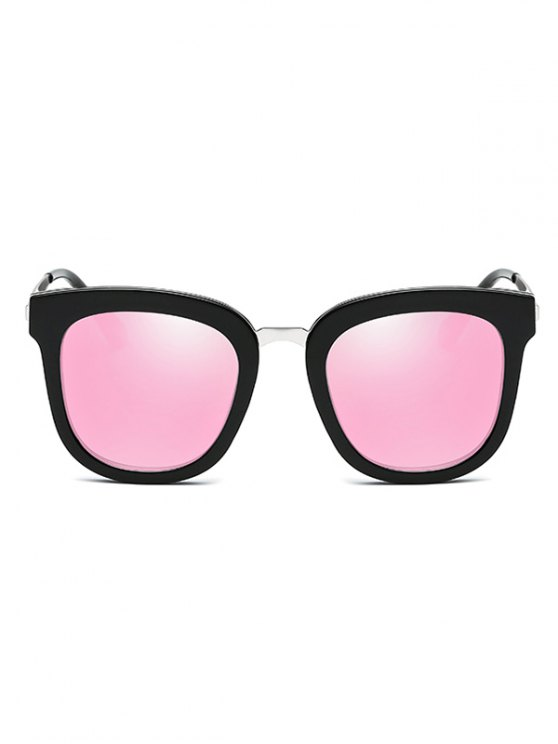 Butterfly Frame Mirrored Oversized Sunglasses - PINK  Mobile