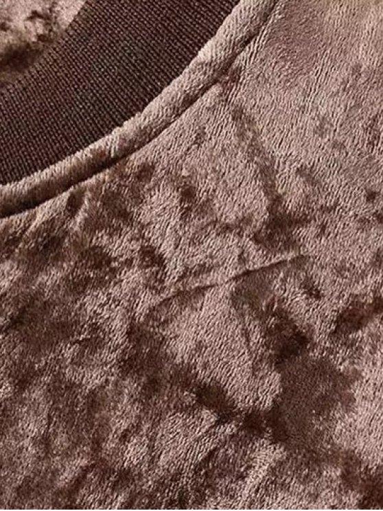 Velvet Pilot Jacket - COFFEE S Mobile