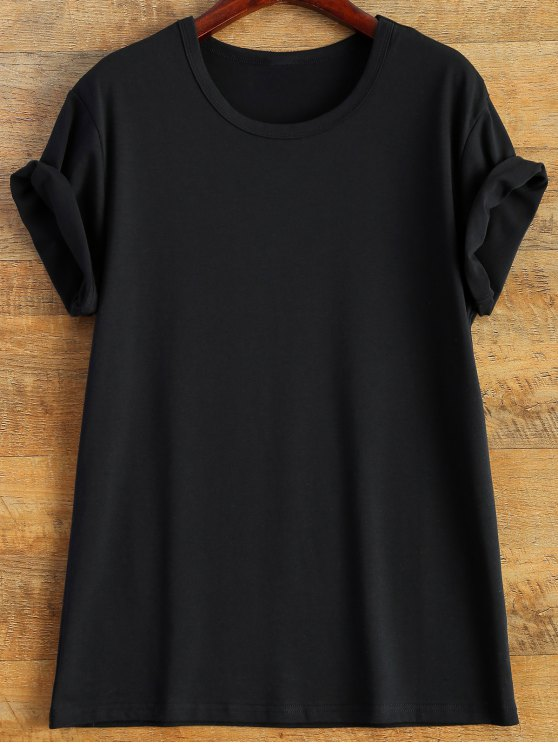 Short Sleeve Number 98 Print Tee - BLACK 3XL Mobile