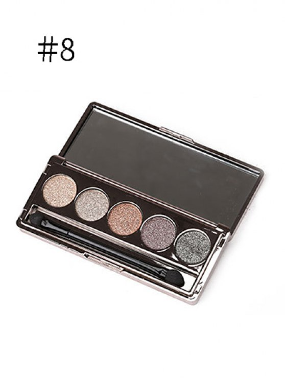5 Colours Diamond Eyeshadow Kit - #08  Mobile