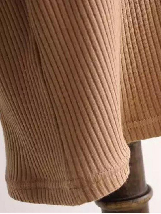Ribbed Sleeveless Knitted Bodycon Dress - CAMEL ONE SIZE Mobile