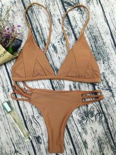 Padded Cami Bikini Set - Coffee M