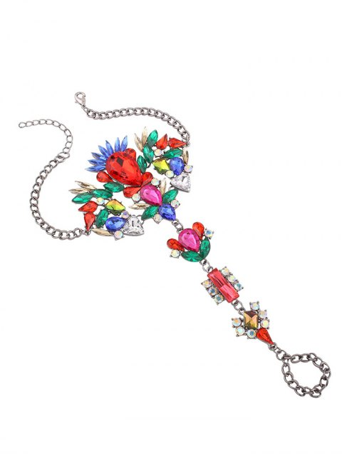 womens Rhinestone Statement Slave Hippie Anklet - COLORFUL  Mobile