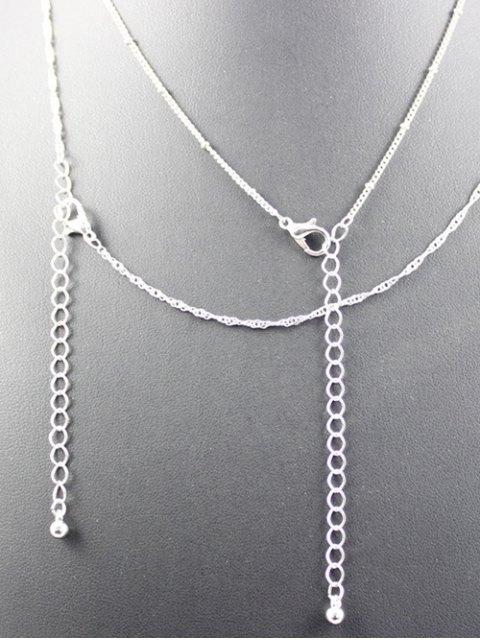 unique Layered Cross Grail Necklace - SILVER  Mobile