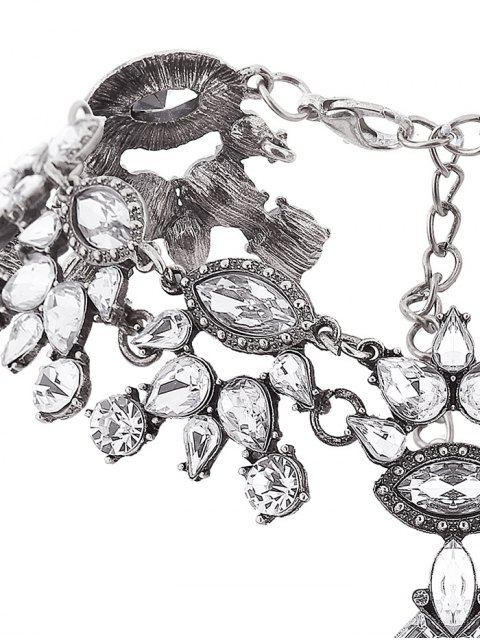 ladies Rhinestone Pendant Statement Necklace -   Mobile
