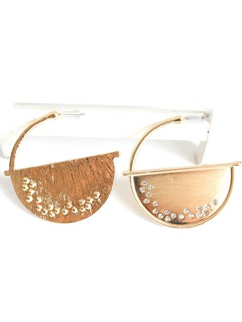 chic Half Disc Drop Earrings - GOLDEN  Mobile