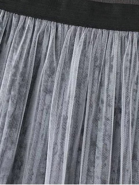 lady Mesh A Line Tea Length Skirt - COFFEE ONE SIZE Mobile