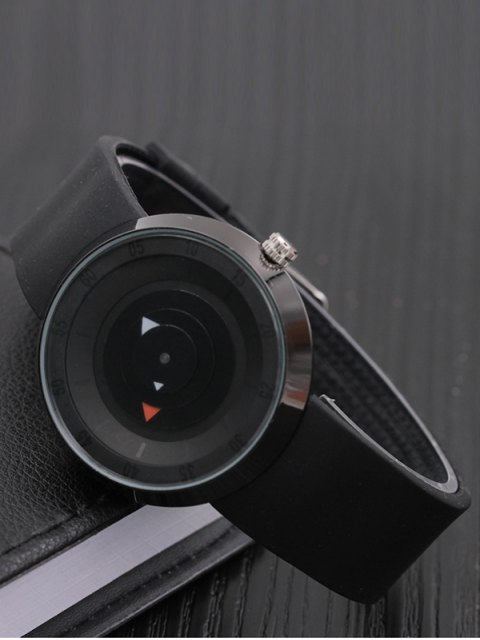 outfit Silicone Number Turntable Watch - BLACK  Mobile