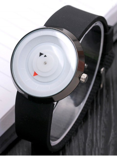 outfits Silicone Number Turntable Watch - WHITE  Mobile