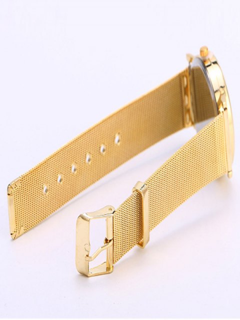 affordable Metal Mesh Band Butterfly Analog Watch - GOLDEN  Mobile