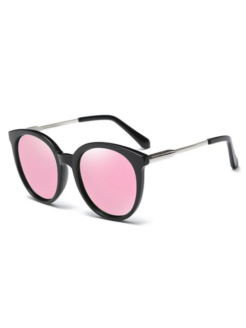 shop Mirrored Cat Eye Sunglasses - PINK  Mobile