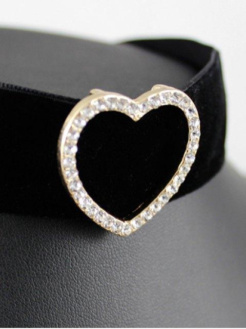 online Heart Velvet Wide Choker - BLACK  Mobile