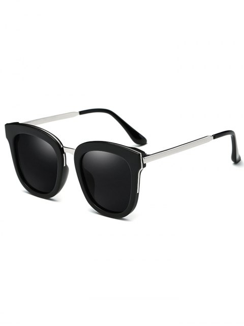 trendy Butterfly Frame Oversized Sunglasses - BLACK  Mobile