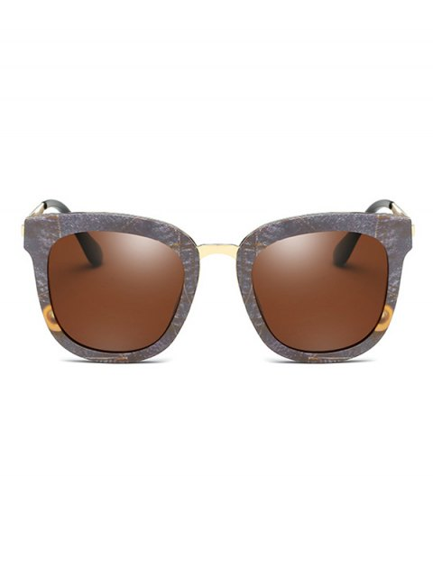 chic Marble Pattern Butterfly Frame Oversized Sunglasses - GRAY  Mobile
