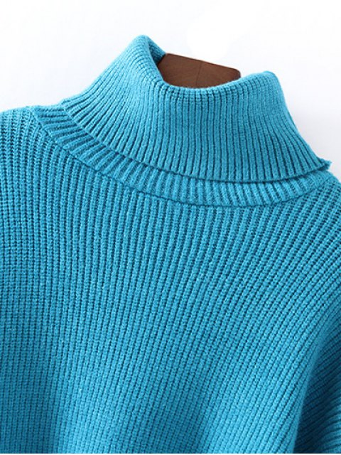 best Turtleneck Relaxed Jumper - GRAY ONE SIZE Mobile