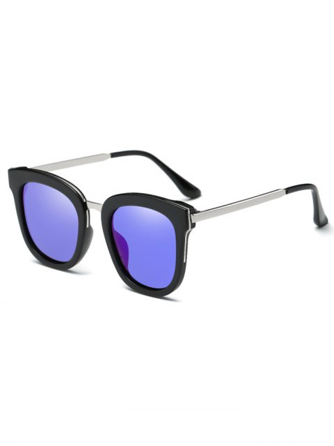 unique Butterfly Frame Mirrored Oversized Sunglasses - BLUE  Mobile
