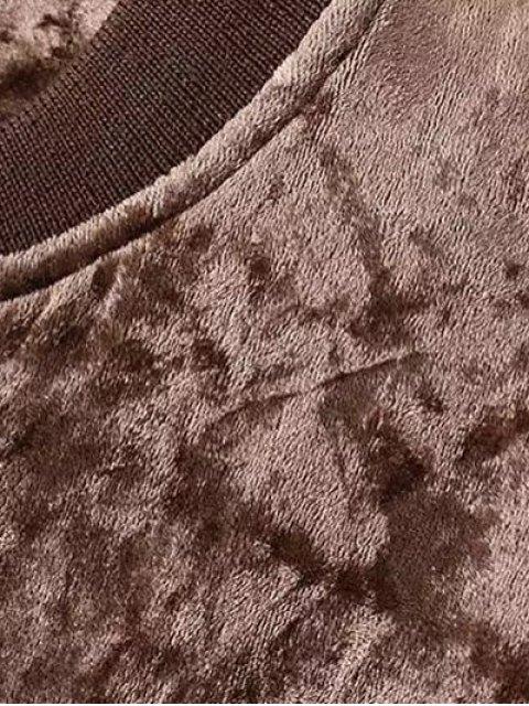 new Velvet Pilot Jacket - COFFEE M Mobile