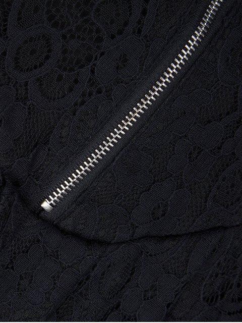 sale Sleeveless Lace Mini Dress - BLACK XL Mobile