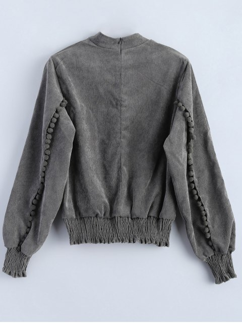 affordable Oversized Choker Sweatshirt - GRAY L Mobile
