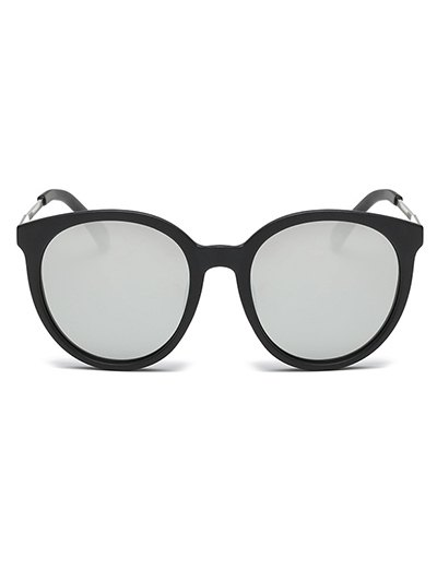 Mirrored Cat Eye Sunglasses - SILVER  Mobile