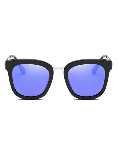 Butterfly Frame Mirrored Oversized Sunglasses - BLUE  Mobile