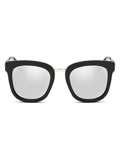 Butterfly Frame Mirrored Oversized Sunglasses - SILVER  Mobile