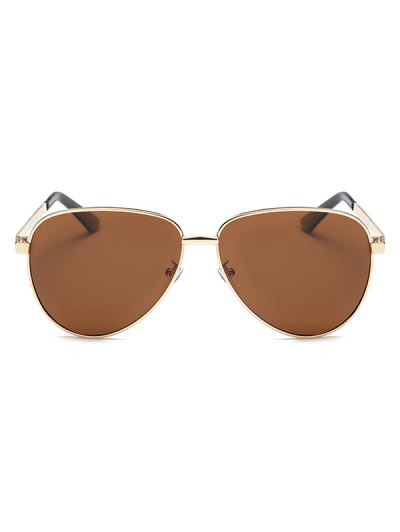 Stripy Leg Metal Pilot Sunglasses - TEA-COLORED  Mobile