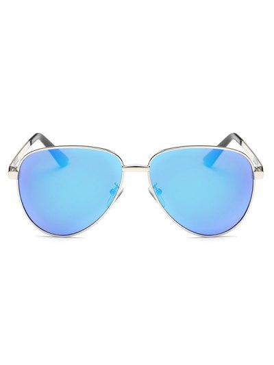Stripy Leg Metal Mirrored Pilot Sunglasses - ICE BLUE  Mobile