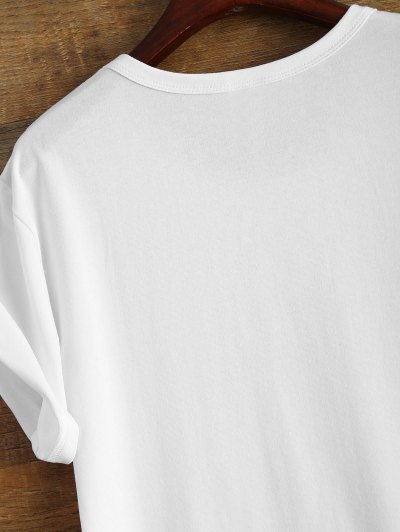 Short Sleeve Crybaby Graphic Tee - WHITE 3XL Mobile