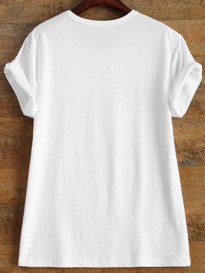 Short Sleeve Crybaby Graphic Tee - WHITE XL Mobile