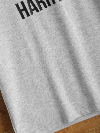 Short Sleeve Lettering Tee - GRAY 2XL Mobile