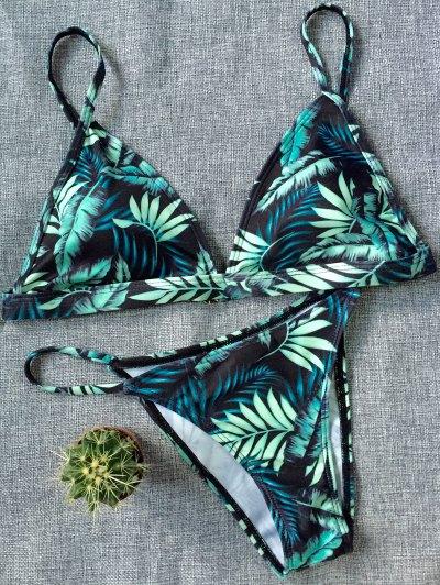 Tropical Print String Bikini Set - COLORMIX XL Mobile