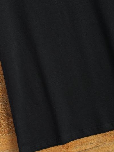 Short Sleeve Number 98 Print Tee - BLACK 2XL Mobile