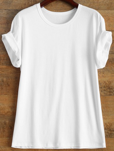 Short Sleeve Number 98 Print Tee - WHITE XL Mobile