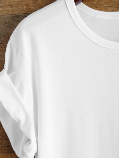 Short Sleeve Number 98 Print Tee - WHITE S Mobile