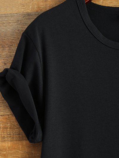 Short Sleeve Number 98 Print Tee - BLACK S Mobile