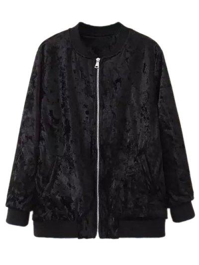 Velvet Pilot Jacket - BLACK M Mobile