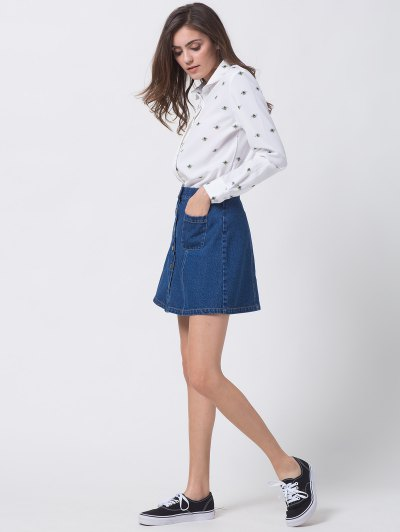 Funny Bee Print Shirt - WHITE M Mobile