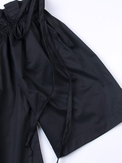 Ruffles Off Shoulder Blouse - BLACK XL Mobile