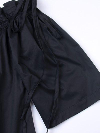 Ruffles Off Shoulder Blouse - BLACK 2XL Mobile
