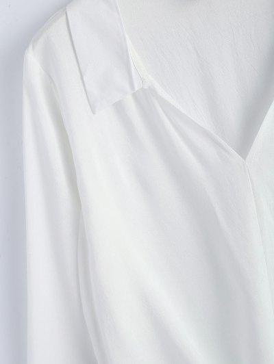 Loose Tied Blouse - WHITE S Mobile