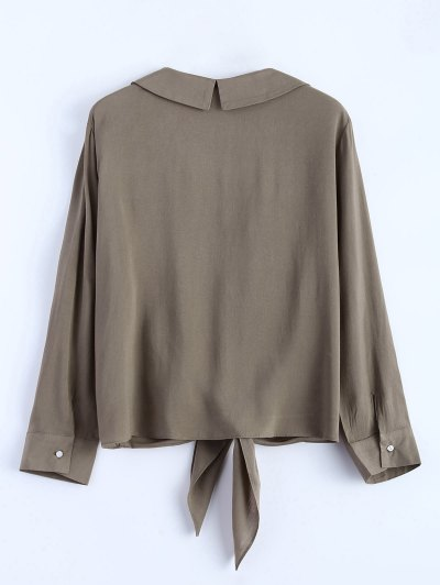 Loose Tied Blouse - GRIEGE M Mobile