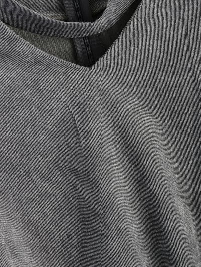 Oversized Choker Sweatshirt - GRAY XL Mobile