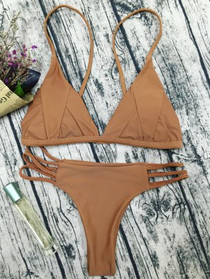 Padded Cami Bikini Set - Coffee