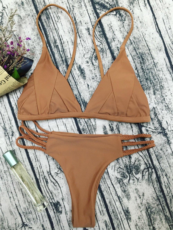 Spaghetti Strap Padded Bikini Set