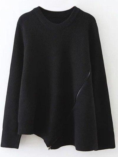 Zipped Hem Swing Sweater