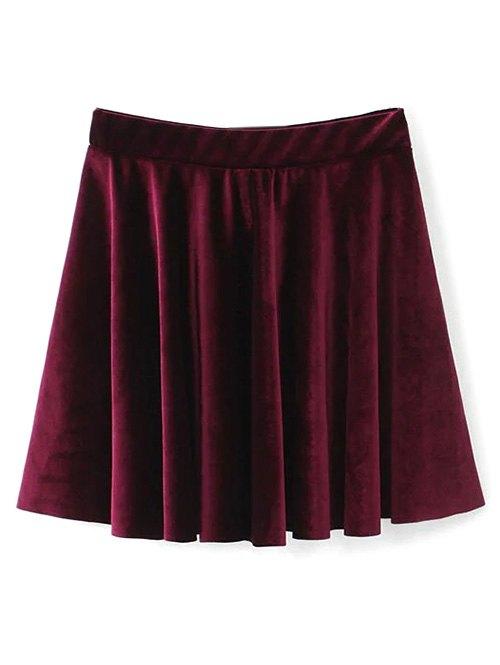 Mini A Line Velvet Skirt
