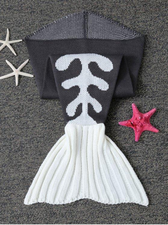 Fish Bone Knit Baby Mermaid Blanket Throw -   Mobile