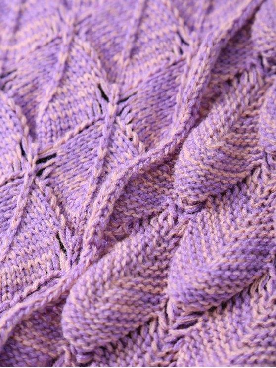 Fish Scale Knit Long Mermaid Blanket Throw - PINK  Mobile